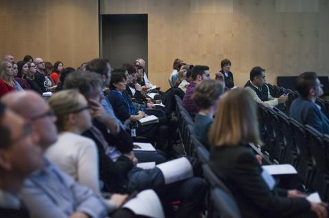 Audience viewing Melbourne Genomics 2016 symposium